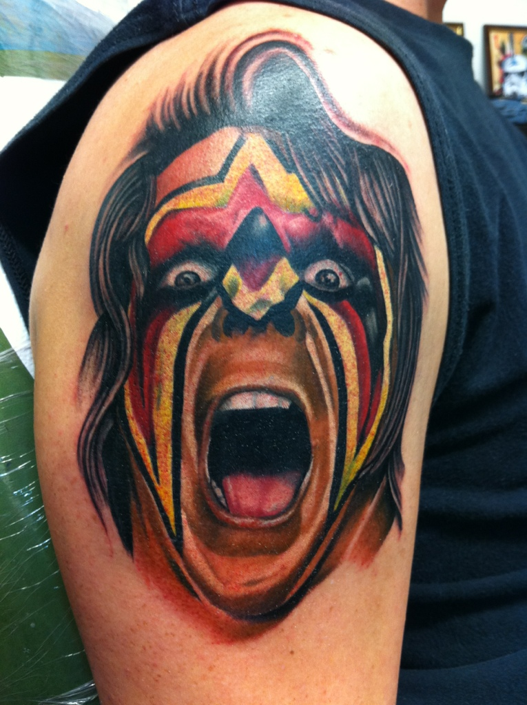 Undertaker Fan Tattoo Fan tattoosUltimate Warrior Symbol Tattoo