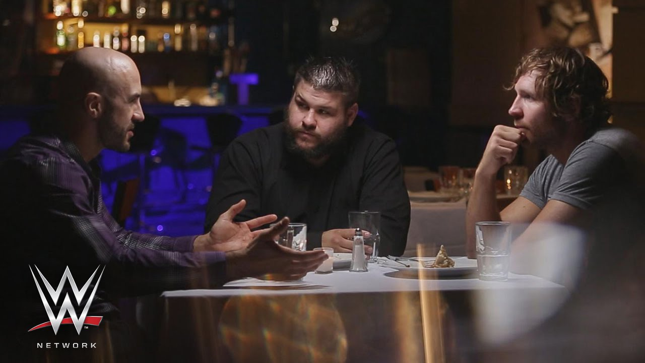 dean ambrose kevin owens and cesaro talk about the brass ring on table for 3. Black Bedroom Furniture Sets. Home Design Ideas