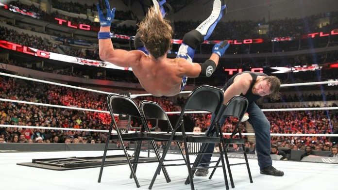AJ Styles Possibly Injured During TLC Main Event James