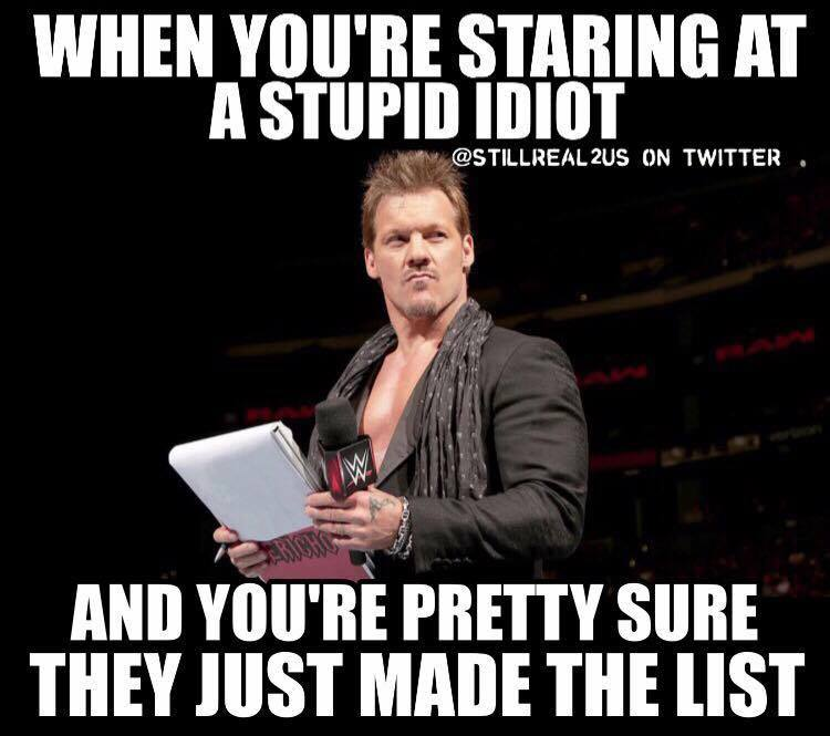 Funny List Meme : Chris jericho memes that tell the story of his current