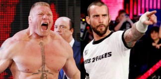 brock lesnar and cm punk