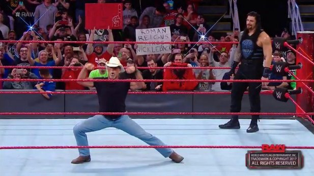 Shawn michaels makes surprise appearance on raw shawn michaels last week on raw the undertaker hit roman reigns with a chokeslam and now its been confirmed that they will face off at wrestlemania 33 in m4hsunfo Image collections