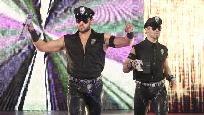 Fans Don T See All That Much Of Them On Tv But Tyler Breeze And Fandango Are Still A Tag Team They Doing The Fashion Police Gimmick