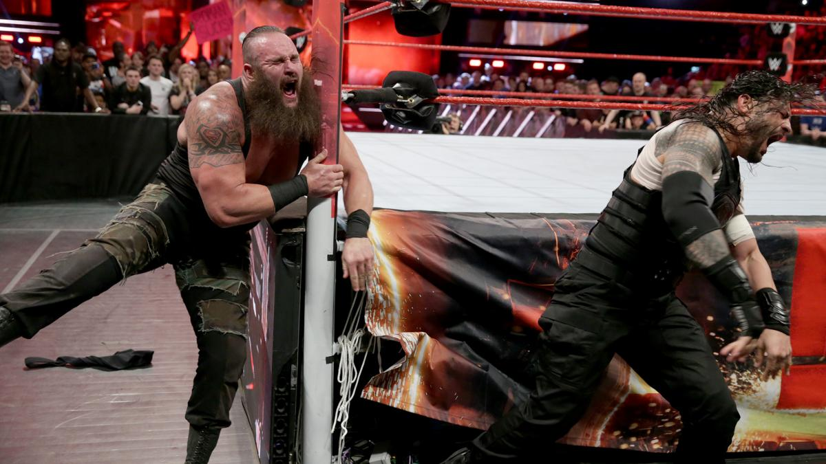 WWE Raw: Roman Reigns on top in brawl with Braun Strowman