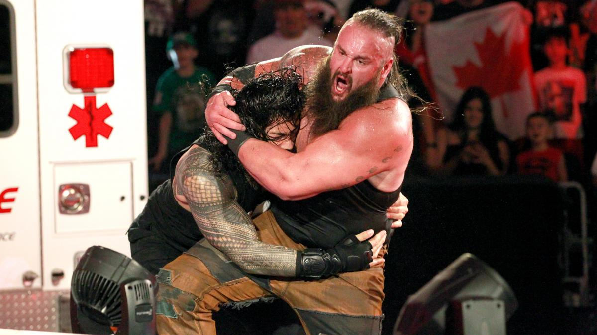 Image result for braun strowman vs roman reigns