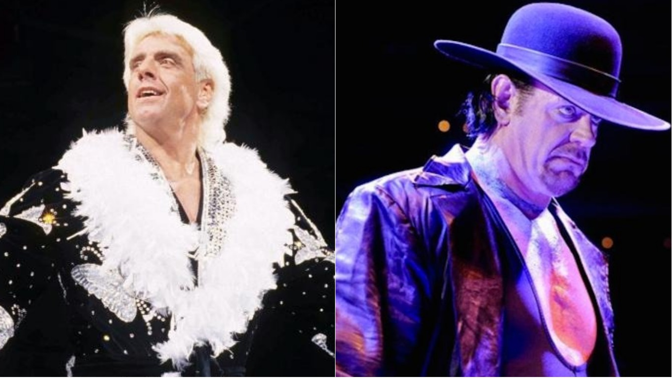 Ric Flair and other characters from Wrestling at the Chase