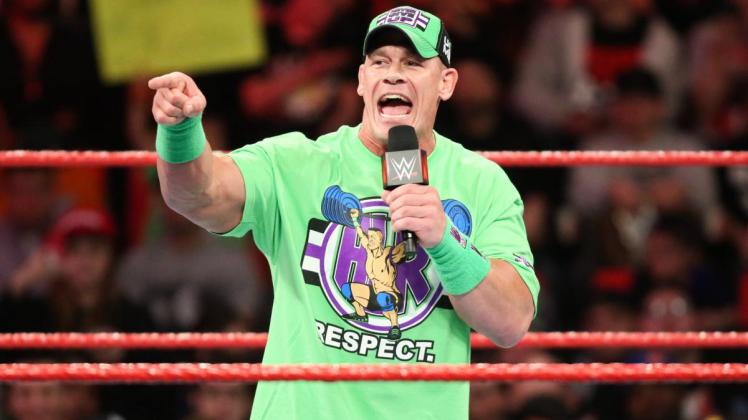 john cena shows off his new look bayley on her feud with. Black Bedroom Furniture Sets. Home Design Ideas