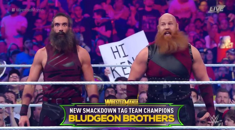 Smackdown Tag Team Championship Change Hands At Wrestlemania 34