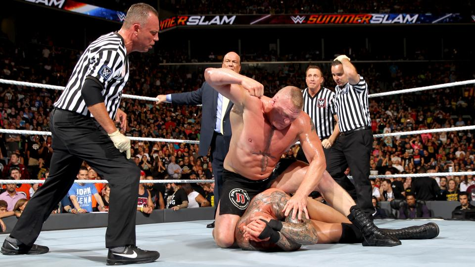 Summerslam Flashback-Brock Lesnar TKO-ing Randy Orton Created Backstage Chaos 1