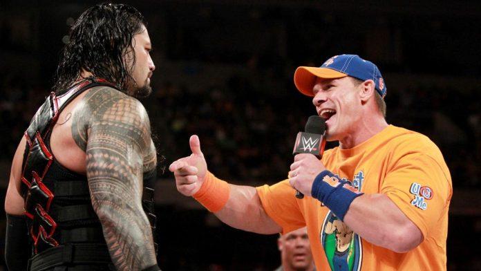 О промо Джона Сины и Романа Рейнса на прошедшем Raw