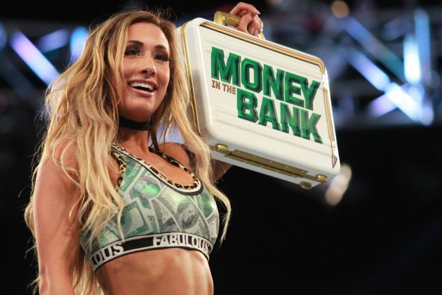 Image result for Carmella breaks the record for most days with the Money in the Bank contract